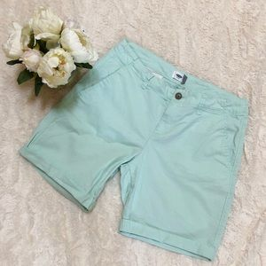 Old Navy Roll Up Bermuda Shorts/ Mint Colored